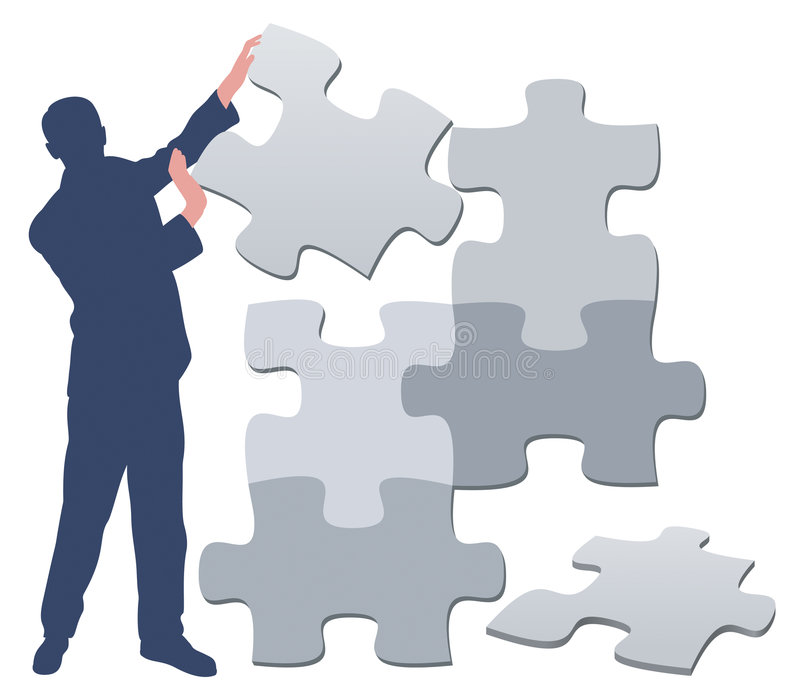 Homme/illustration de puzzle illustration libre de droits