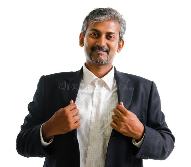 Homme indien asiatique d'affaires photographie stock libre de droits