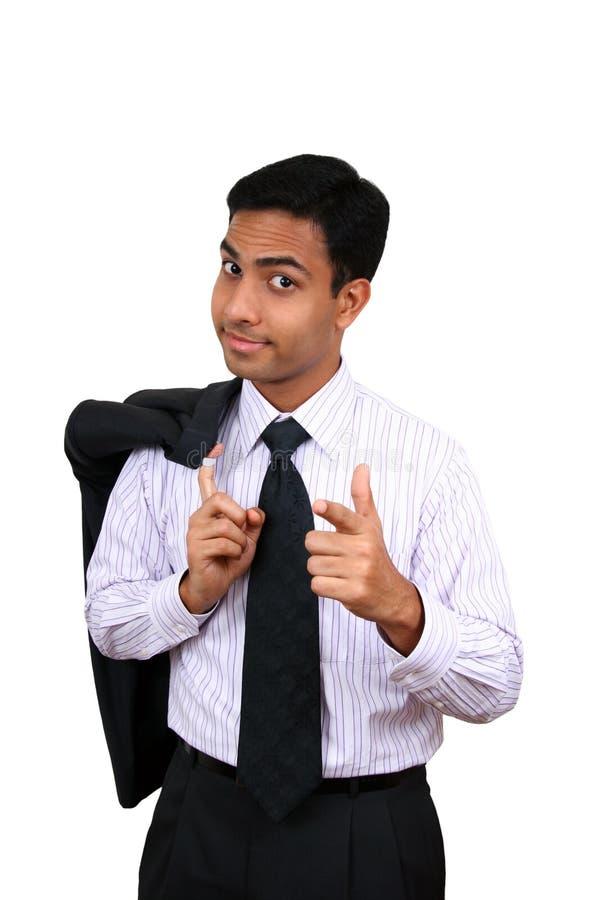 Homme indien d'affaires images stock