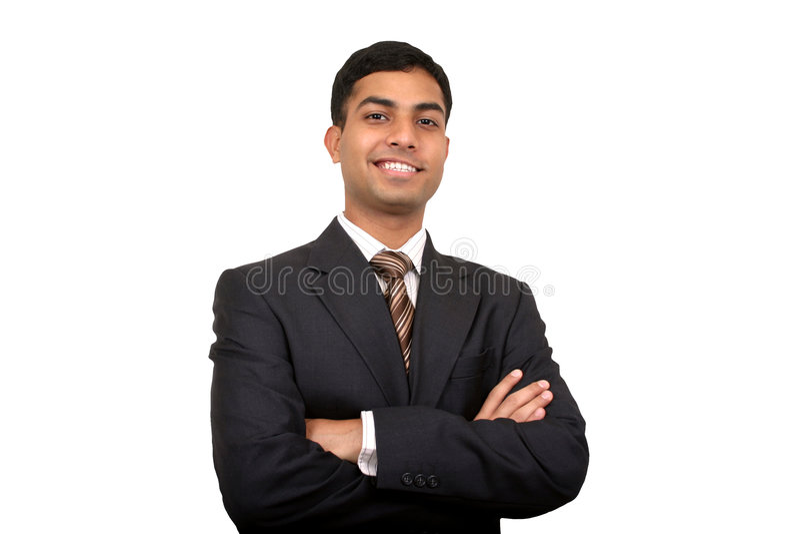 Homme indien d'affaires souriant images libres de droits