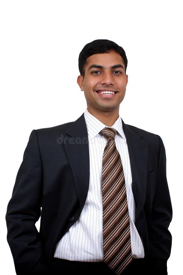 Homme indien d'affaires souriant photo stock