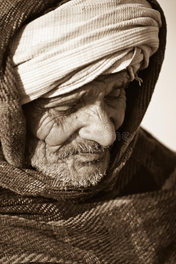 Homme indien dans un turban photographie stock libre de droits