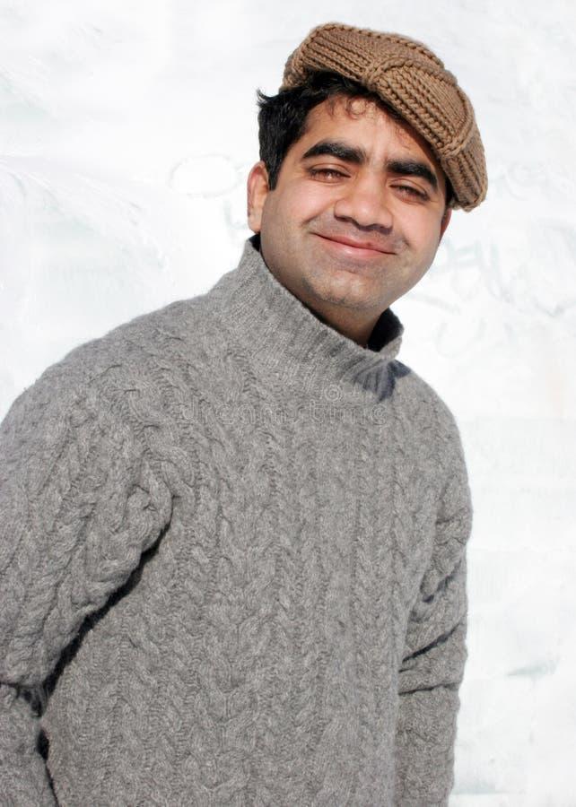 Homme indien de sourire image stock