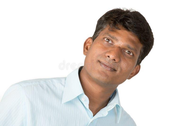 Homme indien optimiste image stock