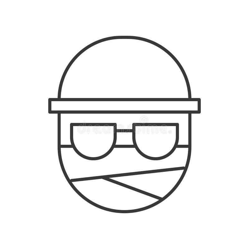 Homme invisible, icône editable de course de caractère de Halloween illustration libre de droits