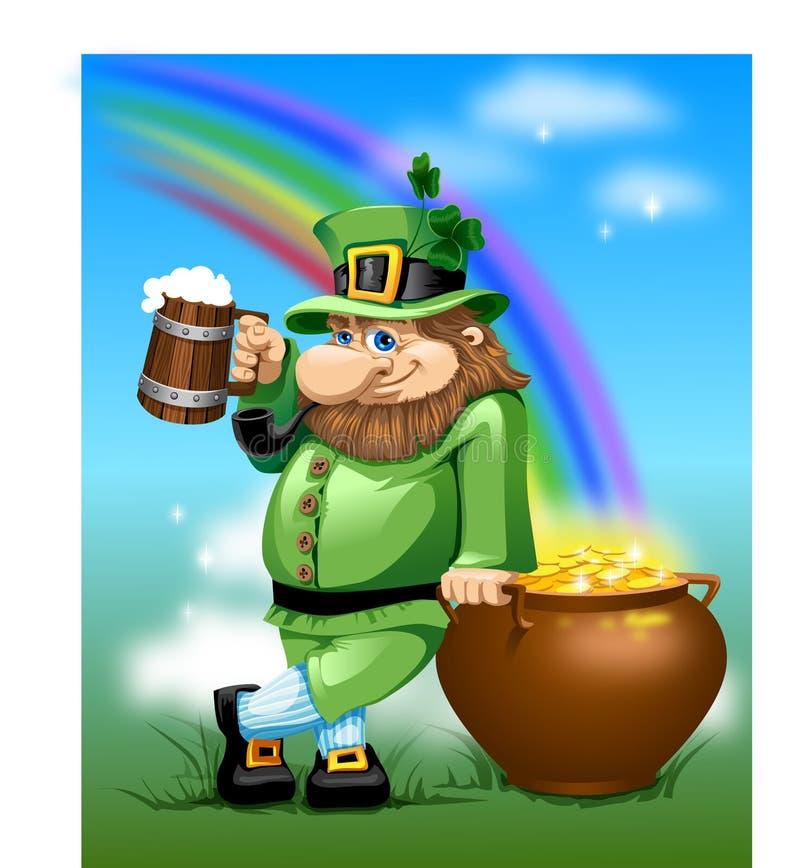 Homme irlandais illustration stock