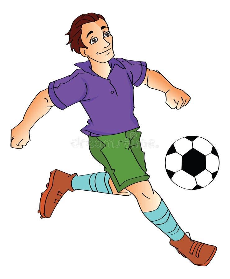 Homme jouant au football, illustration illustration de vecteur