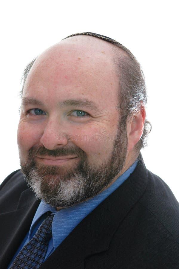 Homme juif de sourire dans le skullcap image libre de droits