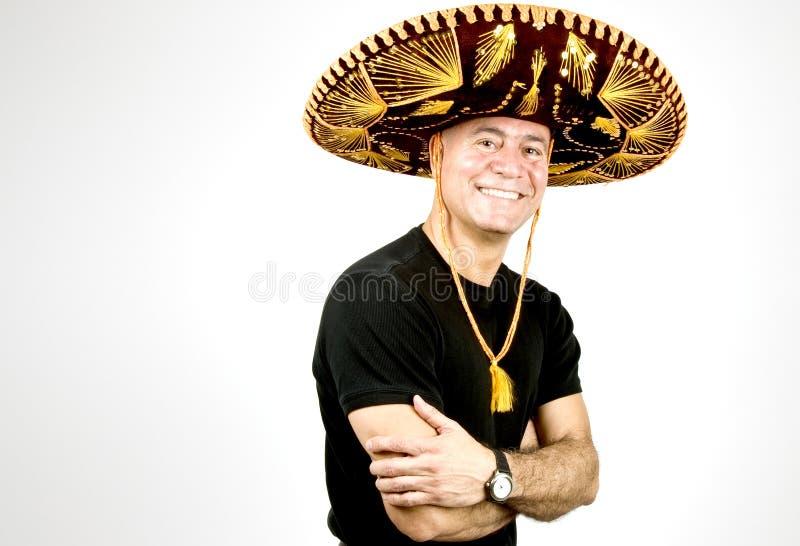 Homme latin avec un sombrero photos stock