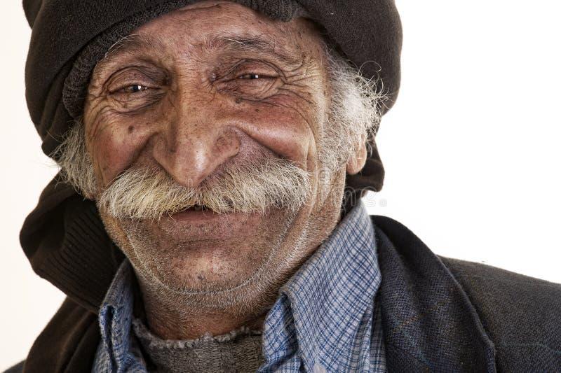 Homme libanais Arabe avec le grand sourire de moustache photographie stock libre de droits