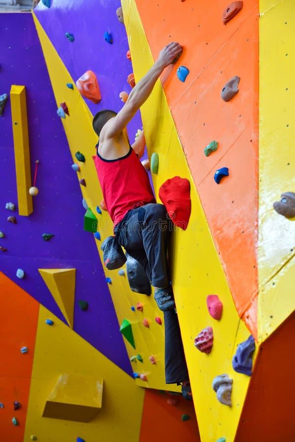 Homme libre de grimpeur photos libres de droits