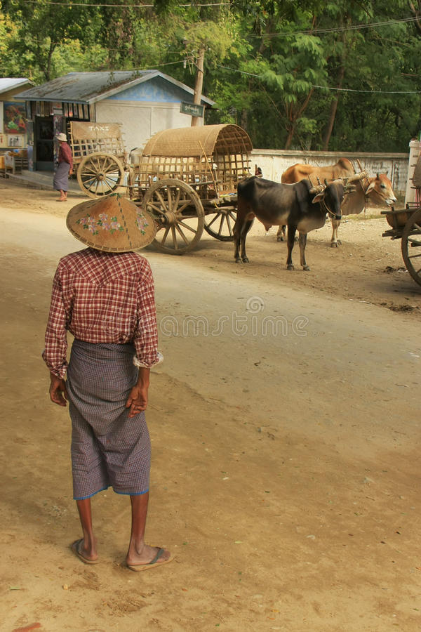 Download Homme Local Se Tenant Dans La Rue, Mingun, Myanmar Image éditorial - Image du landmark, culture: 45364465