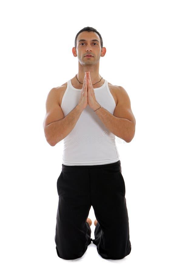 Homme méditant photo stock