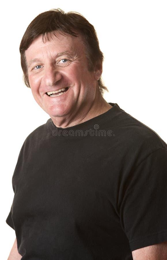 Homme mûr heureux images libres de droits