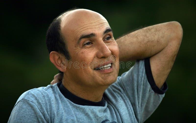 Homme mûr heureux photographie stock