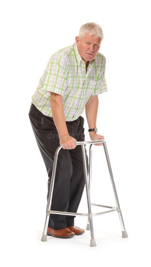 Homme mûr occasionnel handicapé photo stock
