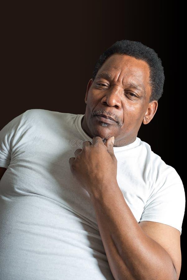 Homme mûr bel fort d'Afro-américain photos stock