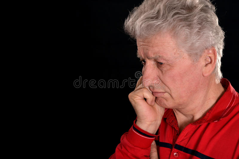 Homme mûr triste photos stock