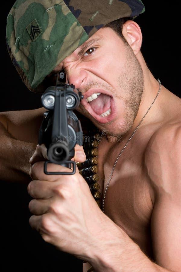 Homme Militaire De Soldat Photo libre de droits