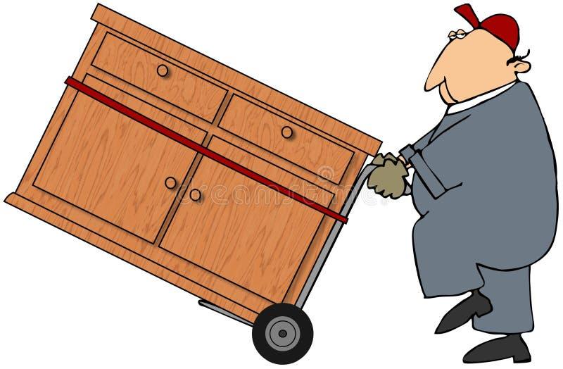 Homme mobile illustration de vecteur