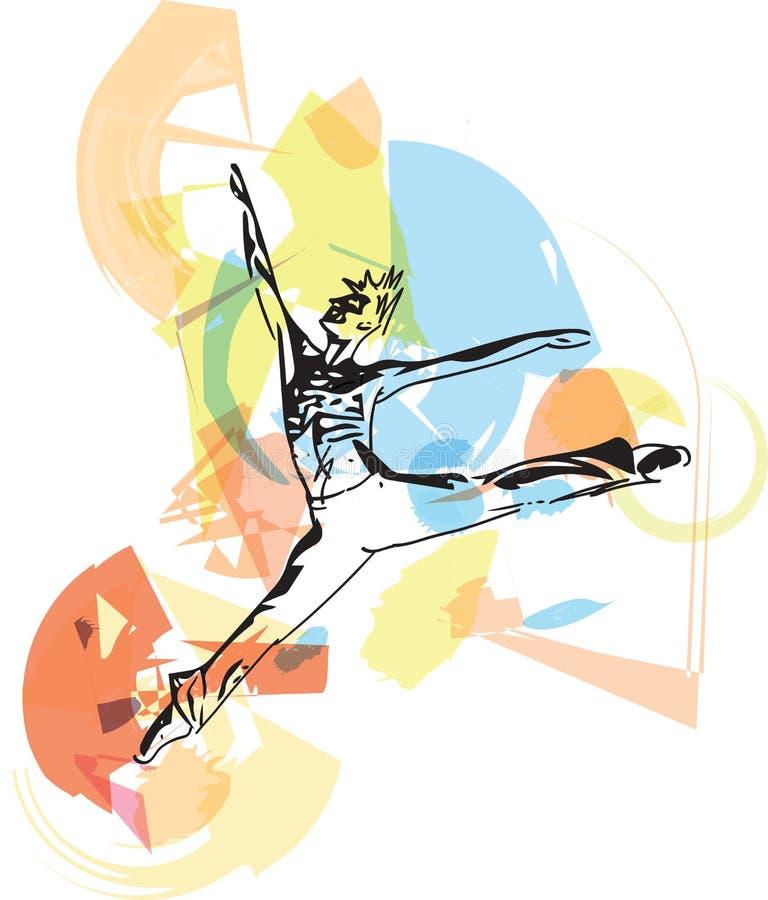 Homme moderne de danseur classique illustration libre de droits