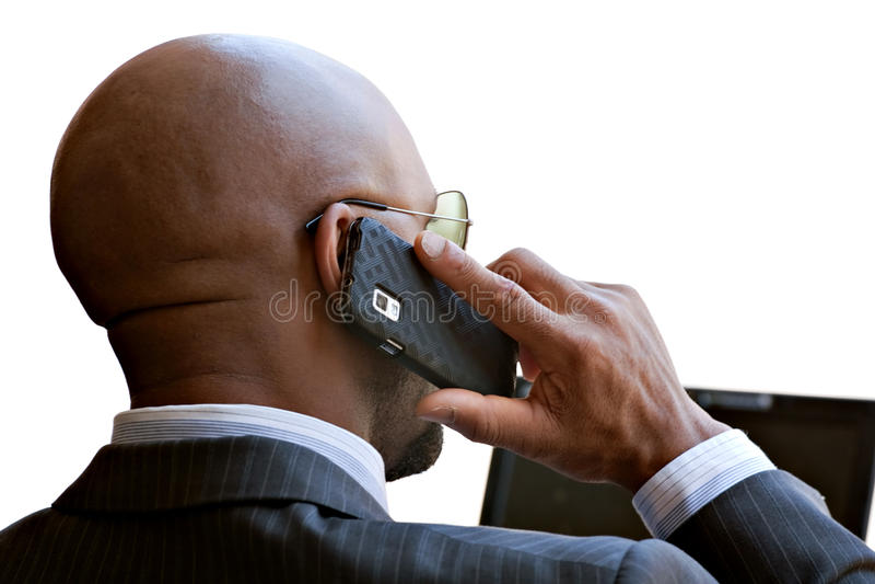 Homme moderne de secteur d'affaires de la téléphonie mobile photos libres de droits