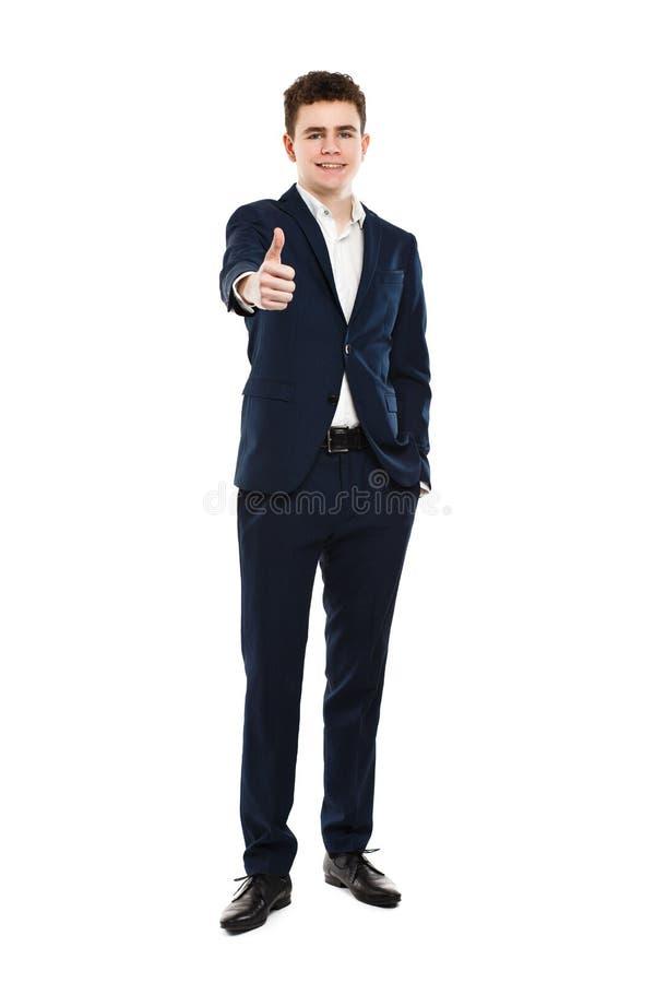 Homme montrant le signe CORRECT image stock
