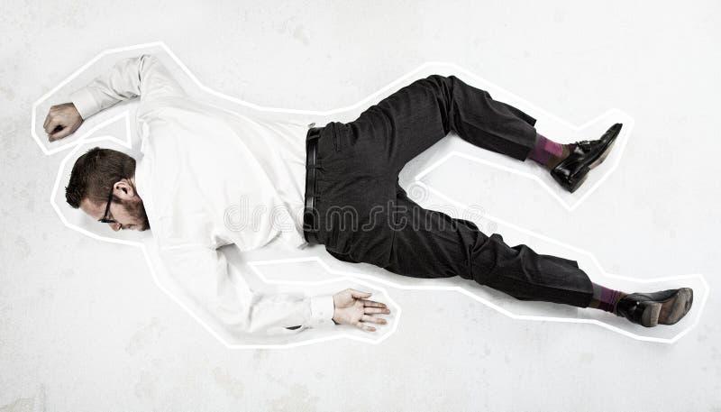 Homme mort image libre de droits