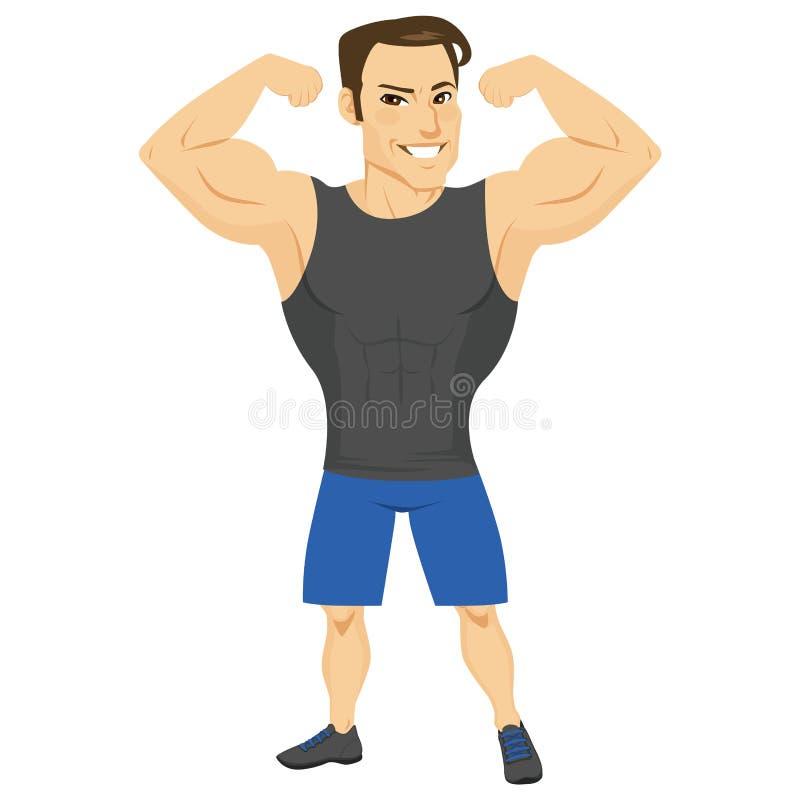 Homme musculaire de forme physique illustration stock