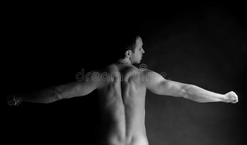 Homme musculaire de Portet photo stock