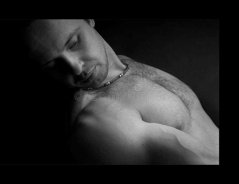 Homme musculaire de Portet photos stock