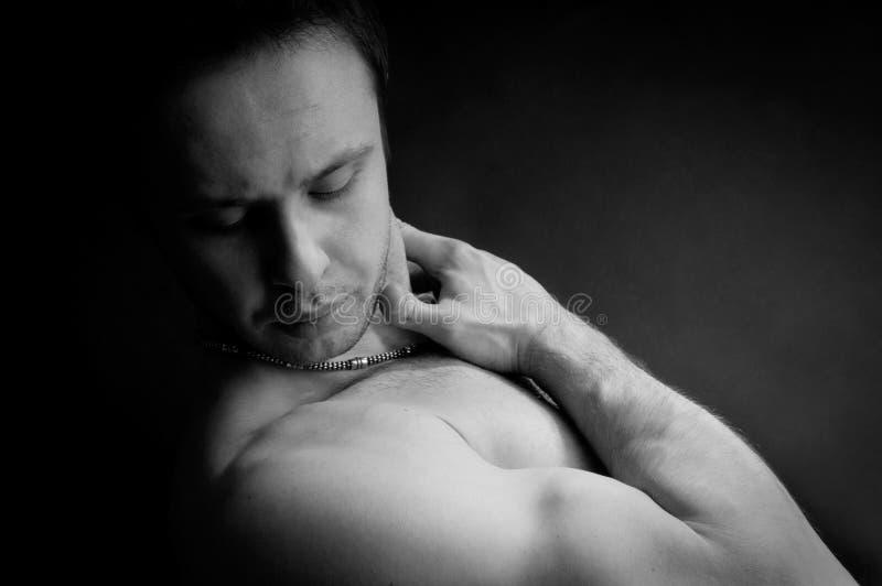 Homme musculaire de Portet images libres de droits