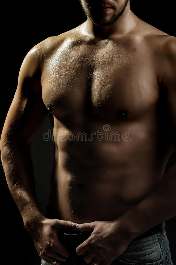 Homme musculaire sexuel image stock