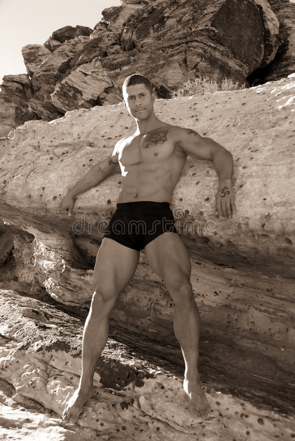 Homme musculaire sexy. photographie stock
