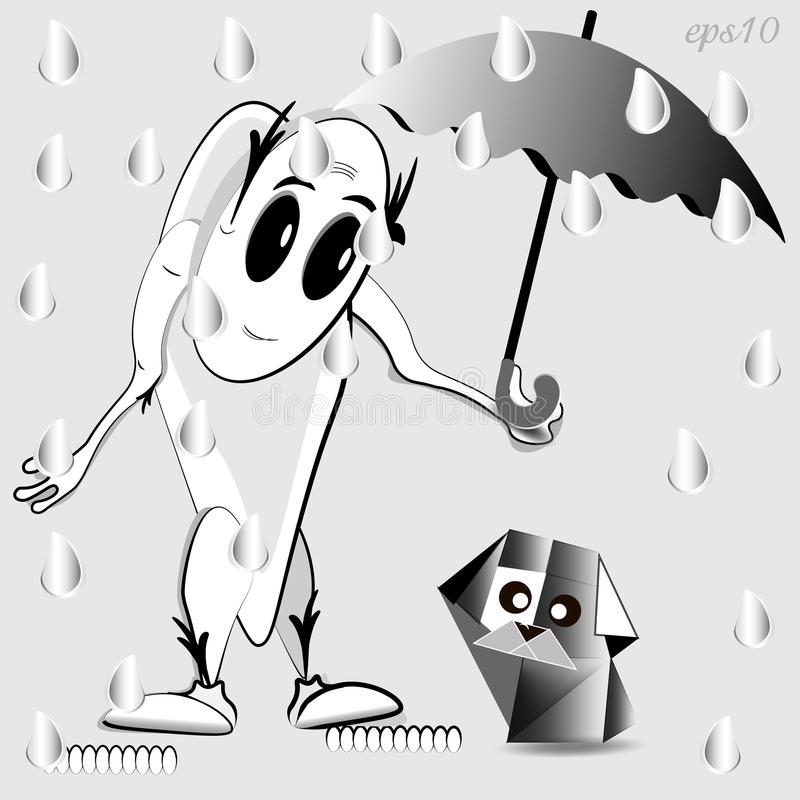 Homme mystérieux sous la pluie image libre de droits
