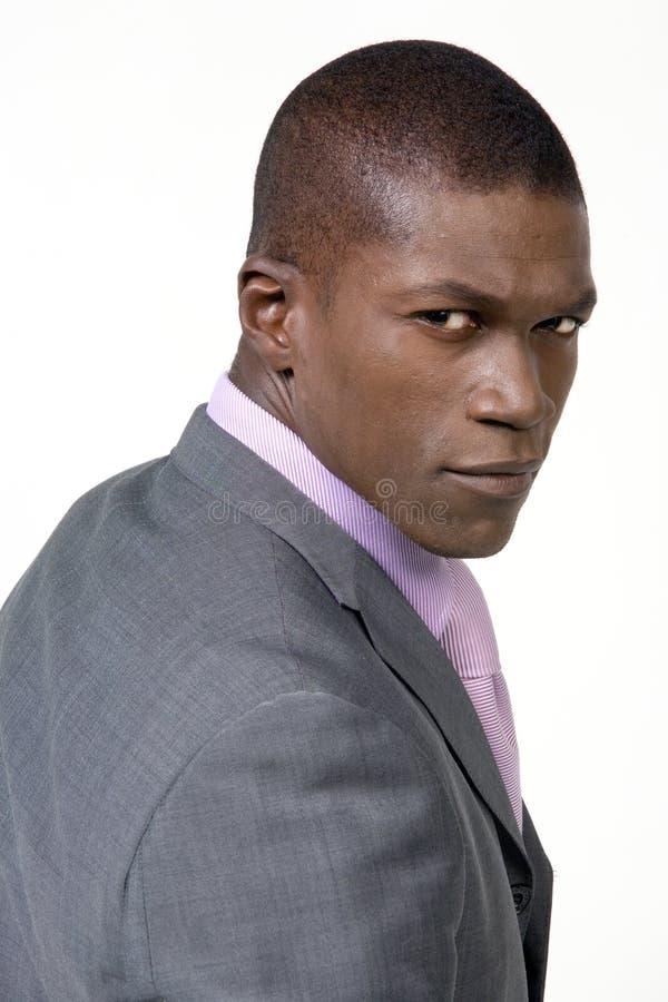 Homme noir d'affaires photos stock