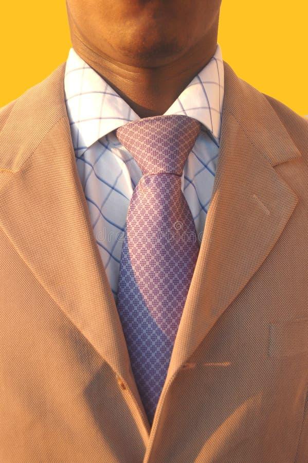 Homme noir d'affaires photo libre de droits