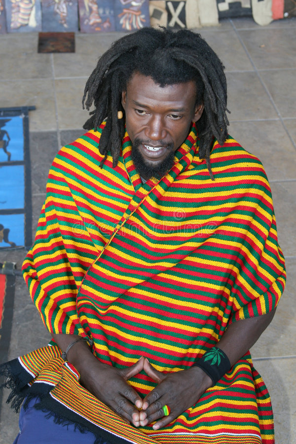 Homme noir de Rastafarian photo stock