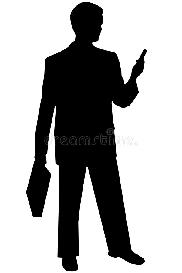 Download Homme Noir De Silhouette Sur Le Blanc Image stock - Image du téléphone, gars: 730911