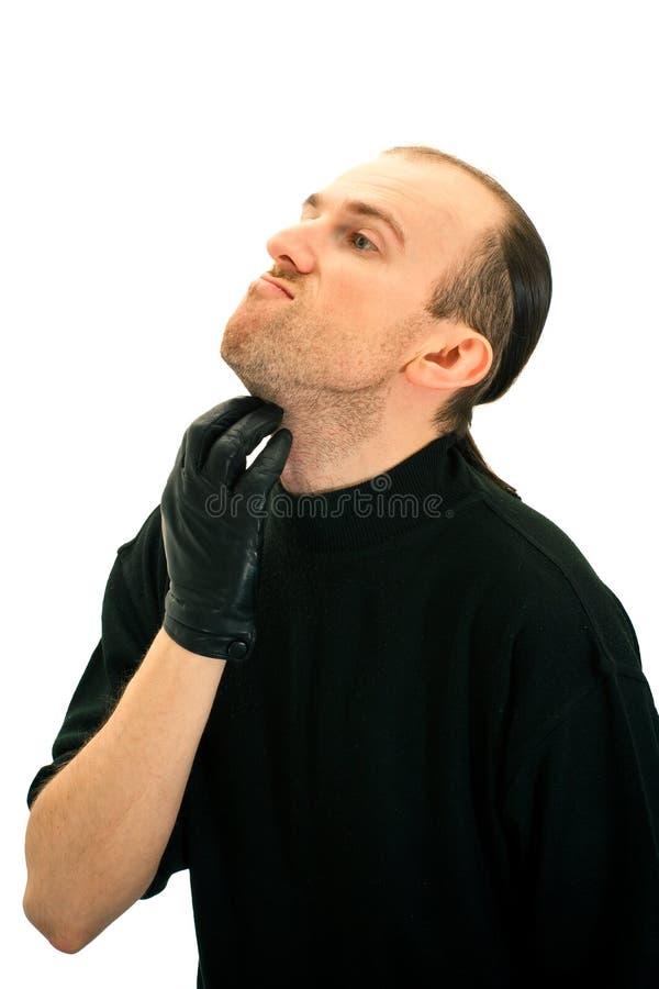 Homme non rasé photographie stock