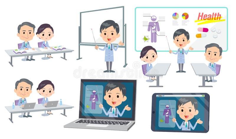 Homme nurse_3 de docteur d'infirmière d'hôpital de conférence de réunion illustration stock
