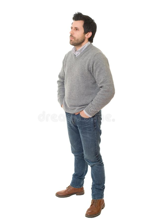 Homme occasionnel photographie stock