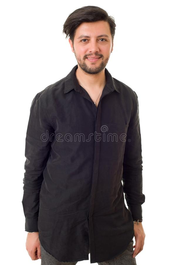 Homme occasionnel heureux photographie stock