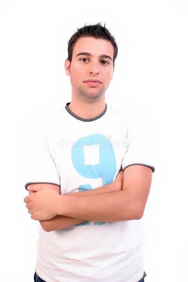 homme occasionnel posant des jeunes images libres de droits