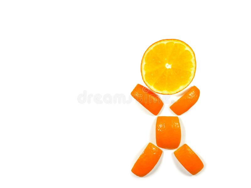Homme orange photo stock