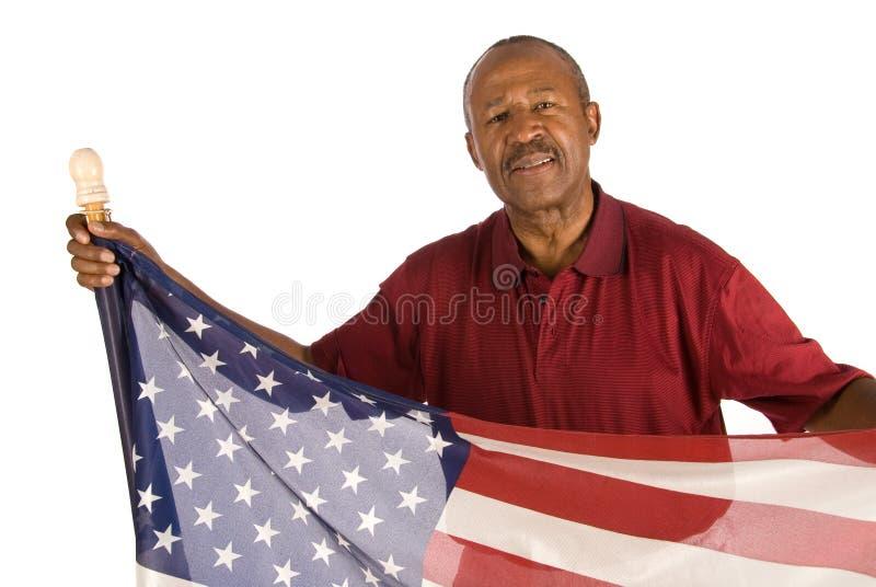 Homme patriote d'Afro-américain photographie stock libre de droits