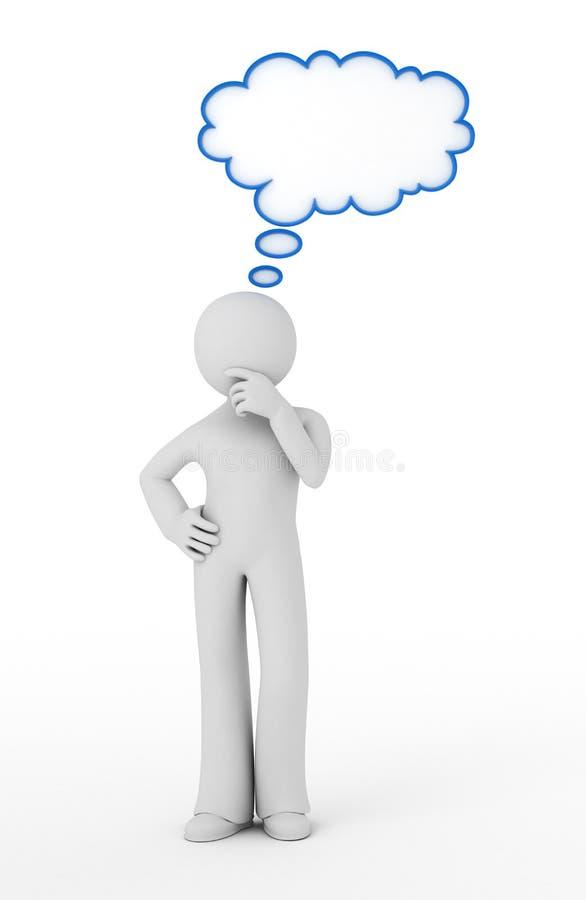 Homme pensant. illustration de vecteur