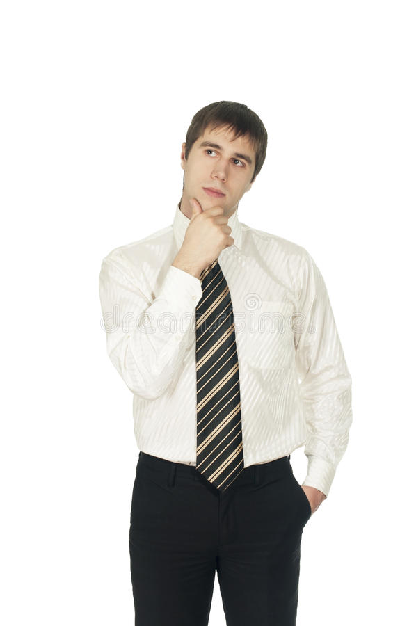 Homme pensant? images stock