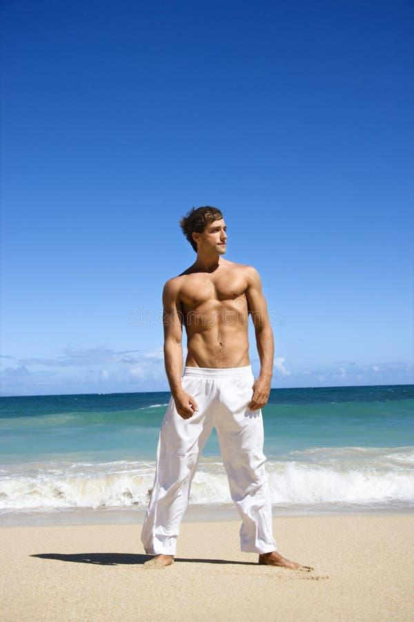 Homme physiquement adapté. image libre de droits