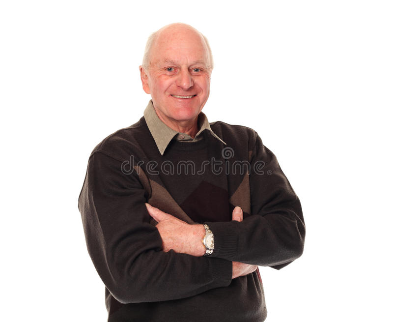 Homme plus âgé aîné heureux photo libre de droits